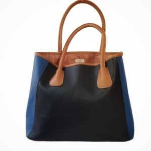 Neiman Marcus Color-Block Tote Bag